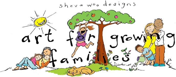 Sheva woo custom murals illustrations and textiles for for Growing families
